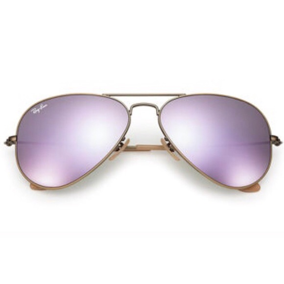 67586ccc5a Ray Ban Aviators with lilac mirror lenses. M 5b1836efc89e1d03ad9943c3